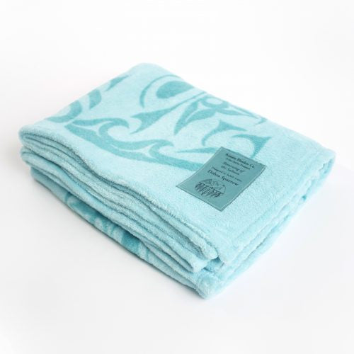 Debra Sparrow© Returning of the Salmon Velura™ Throw Blanket - Teal