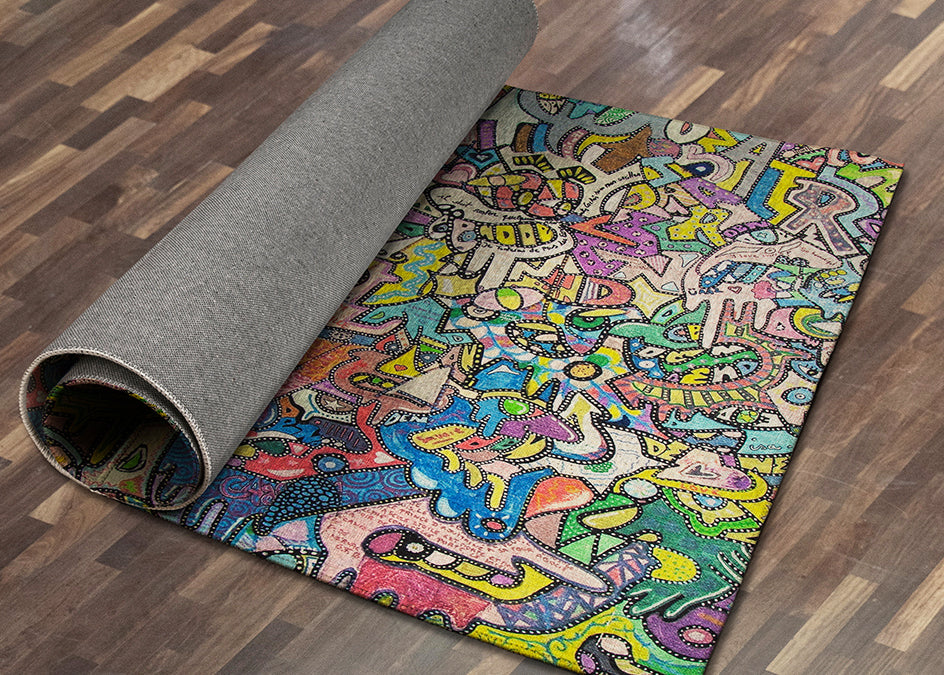 "Custom ""Area Rug"" w/Your Art Design