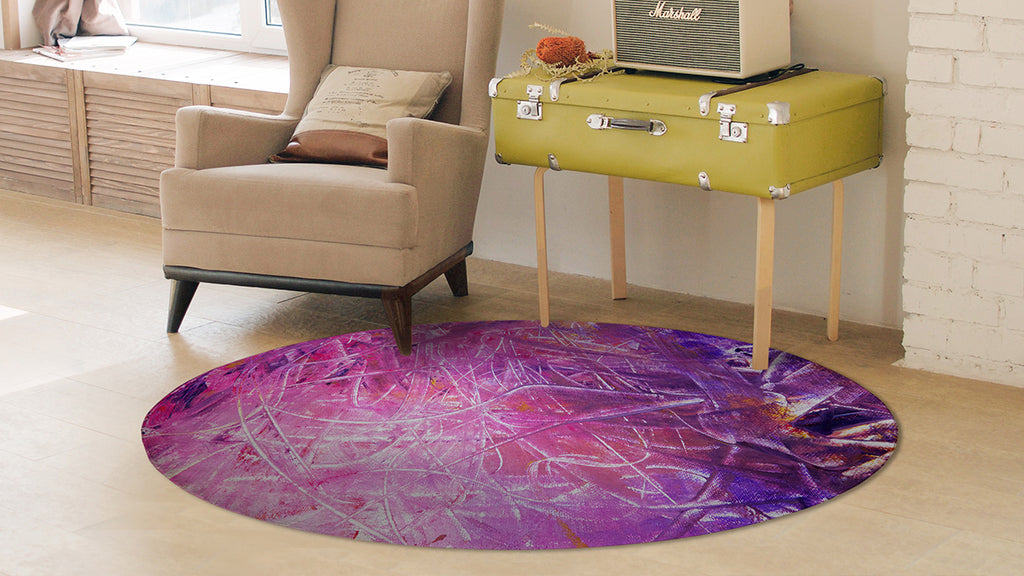 "Custom ""Round Rug"" w/Your Art Design