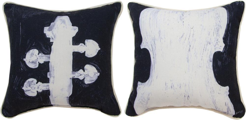 Horns & Strings Violin Reversible Indoor Pillow by Artly©
