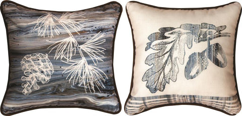 Lodge Fluidity Acorn Reversible Indoor Pillow by PDR©