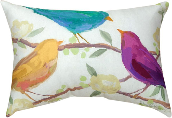 Bird Song Indoor-Outdoor Rectangle Pillow by Martha Collins©|2 Sizes