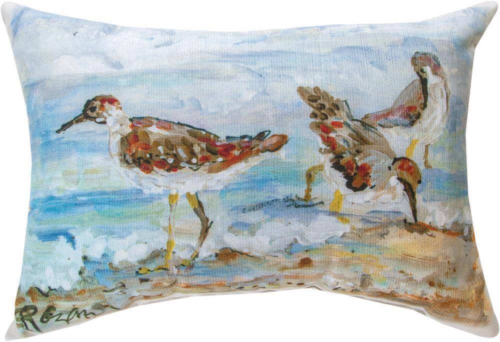 Shore Bird Indoor/Outdoor Rectangle Pillow by Rozanne Priebe©