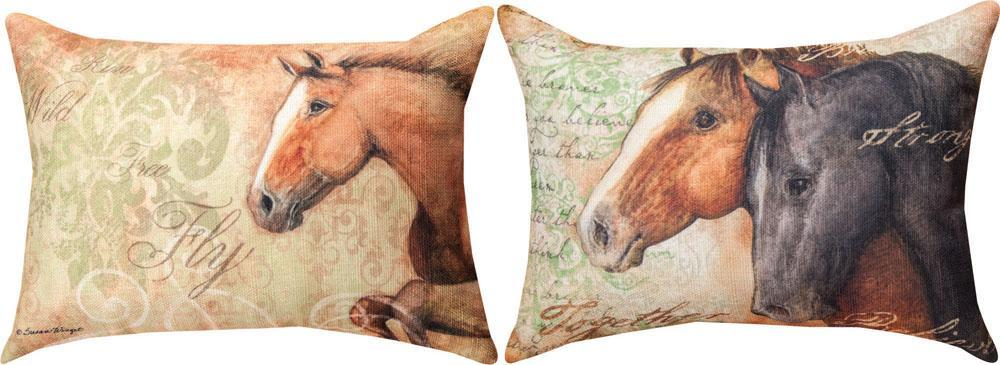 Stable Life Reversible Rectangle Indoor Pillow by Susan Winget©