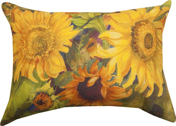 Sunny Faces Sunflowers Tapestry Throw by Joanne Porter©