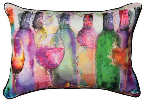 Wine Spirits Indoor Rectangle Pillow by Gregory Gorham©