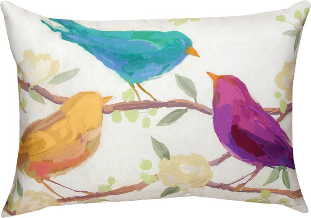 Bird Song Indoor Outdoor Rectangle Pillow By Martha Collins 2 Sizes Woven Art Beyond Llc
