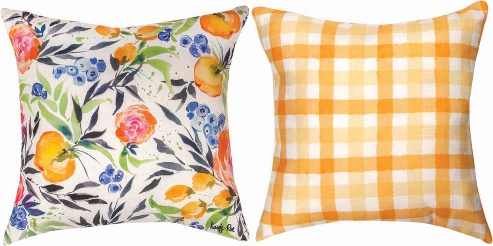Blueberries Among Us Indoor Reversible Pillow by Kristy Rice©