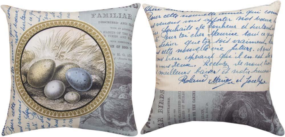 Blue and Grey Reversible Indoor Pillow by Lori Siebert©