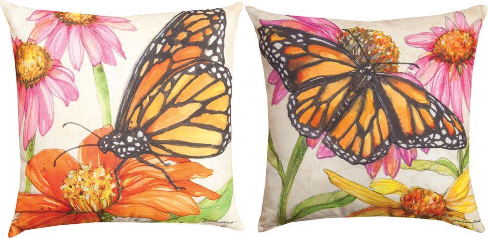 Butterfly Meadow Indoor-Outdoor Reversible Pillow by Sally Eckman©