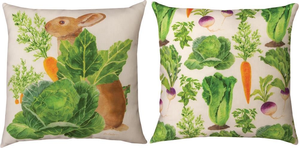 Bunny Trail Patsey Indoor-Outdoor Reversible Pillow by Martha Collins©