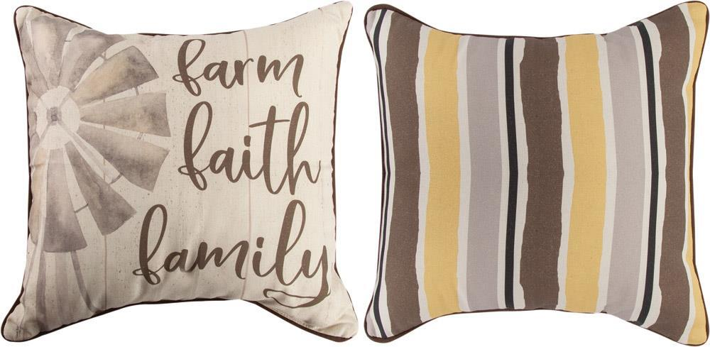 Farm Life Reversible Indoor Pillow by Tara Reed©