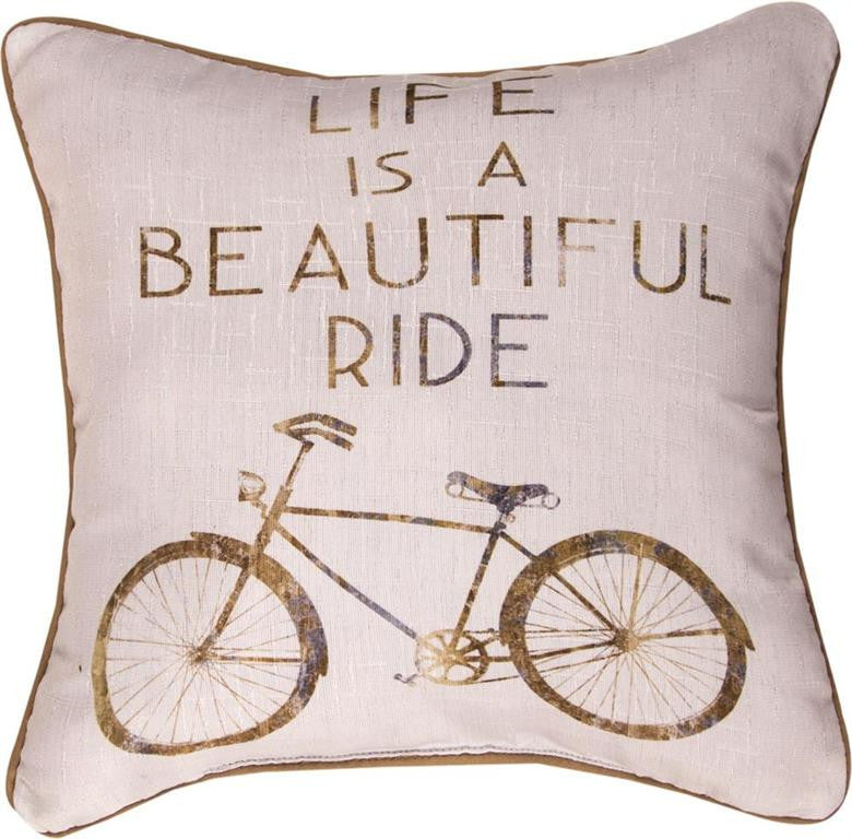 Life Is A Beautiful Ride Indoor Pillow - Cottage Chic