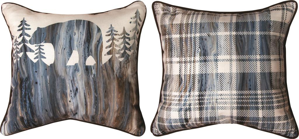 Lodge Fluidity Bear Reversible Indoor Pillow by PDR©