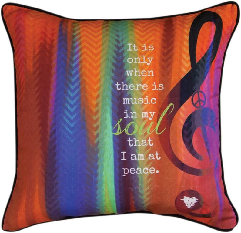 Music In My Soul Indoor Pillow by Brandy Fitzgerald©