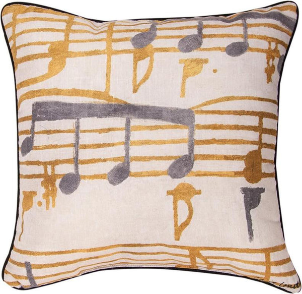 Music Stanzas I Printed Pillow -
