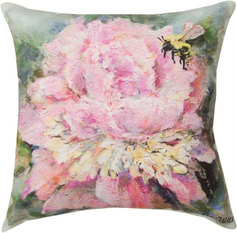 Peony Indoor/Outdoor Pillow by Rozanne Priebe©