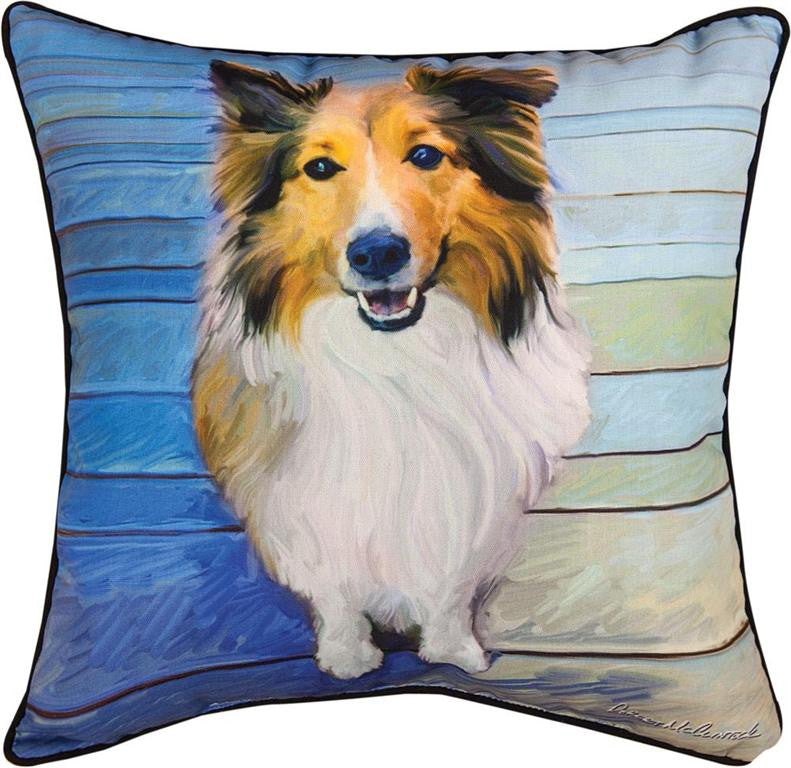 Sheltie The Eyes Have It Pillow by Robert McClintock©