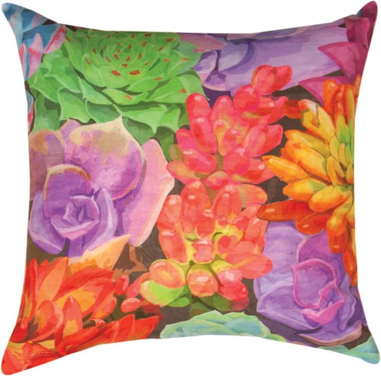 Succulents & Friends Succulents Indoor/Outdoor Pillow by Patti Gay©