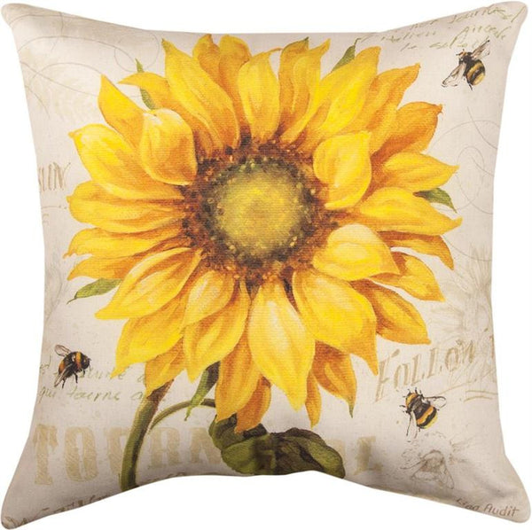 Under The Sun Indoor/Outdoor Pillow by Lisa Audit© - Floral Motif