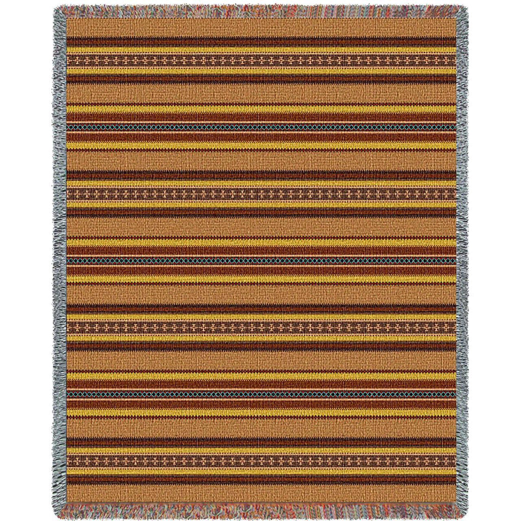 Southwest Saddle Blanket Clay Woven Throw Blanket -