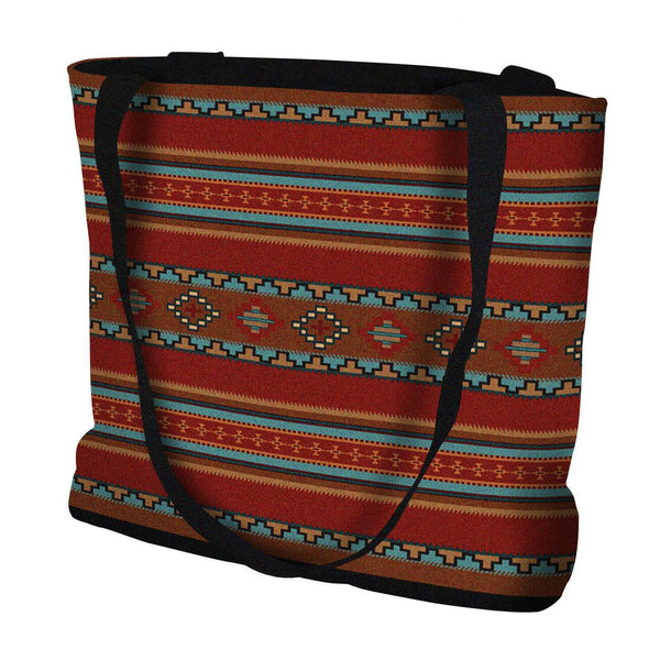 Southwest Saddle Blanket Red Throw|Pillow|Tote