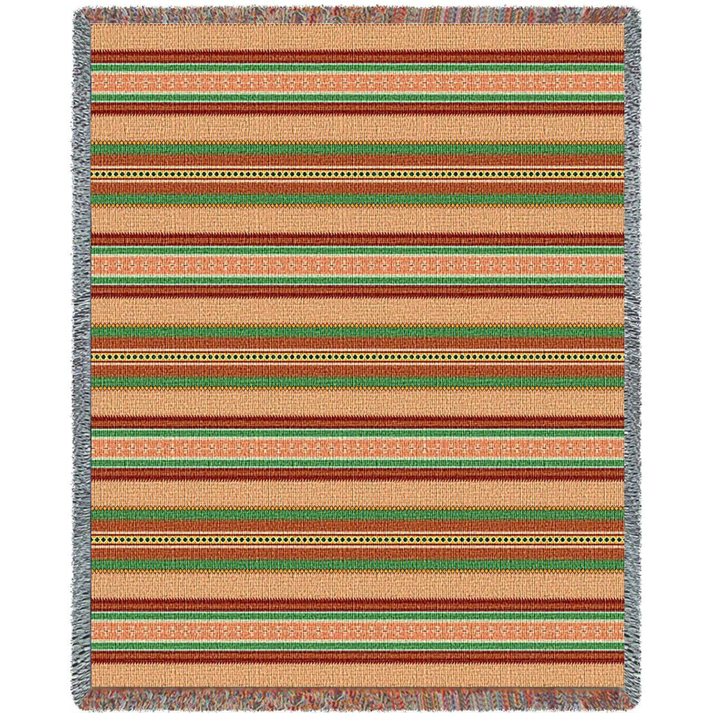 Southwest Saddle Blanket Juniper Woven Throw Blanket -