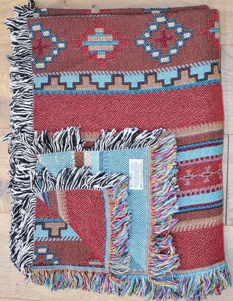 Southwest Saddle Woven Cotton Throw Blanket