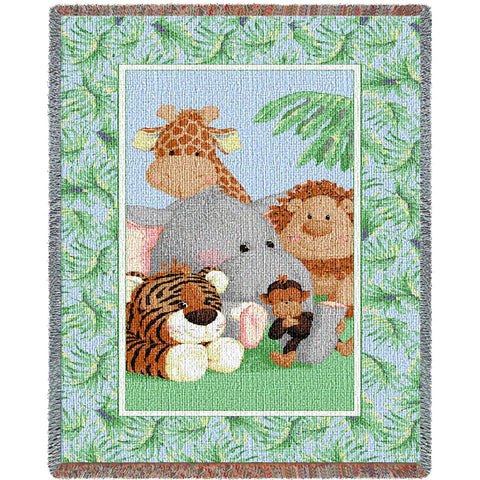 Stuffed Safari Woven Mini Blanket by Patty Reed© -