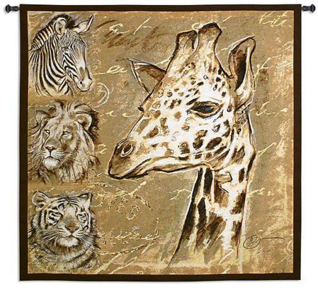 Safari Wall Tapestry by Chad Barrett -