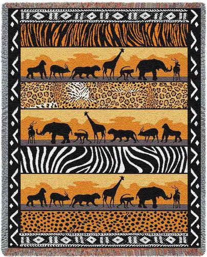 In The Wild Throw Blanket -