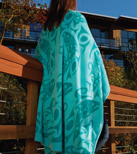 Debra Sparrow© Returning of the Salmon Velura™ Throw Blanket -