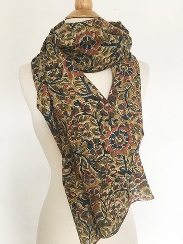 Natural Dye Cotton Block Print Scarf X