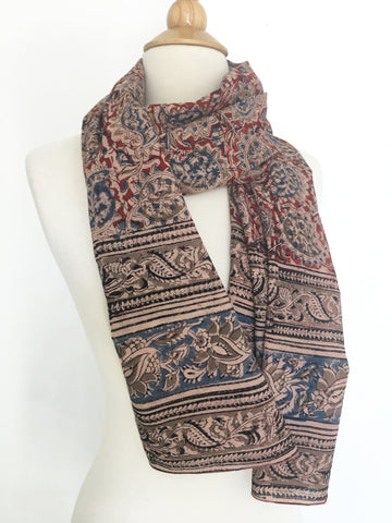 Natural Dye Cotton Block Print Scarf V