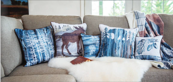 Lodge Fluidity Moose Indoor Pillow by PDR©