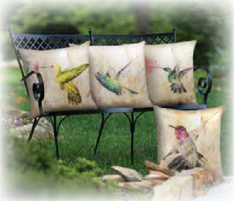 Hummingbird Floral Throw Blanket by Brandy Fitzgerald© -   - 2