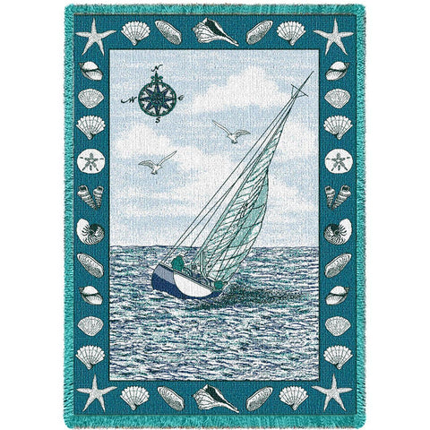 Sea Breeze Woven Throw Blanket