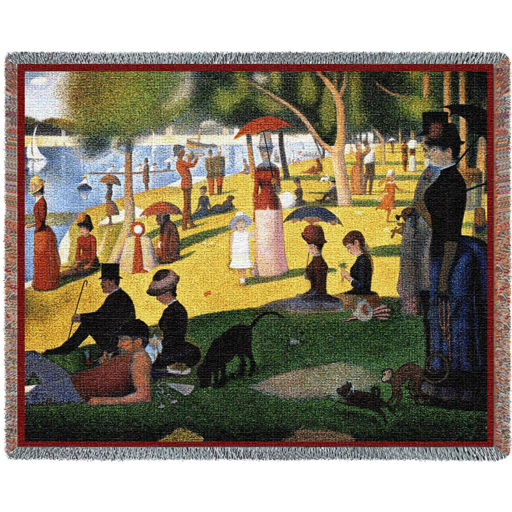 Seurat© Sunday Afternoon Woven Throw Blanket -