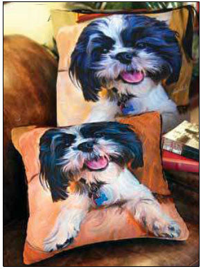 Shih Tzu Baby Pillow by Robert McClintock -   - 2