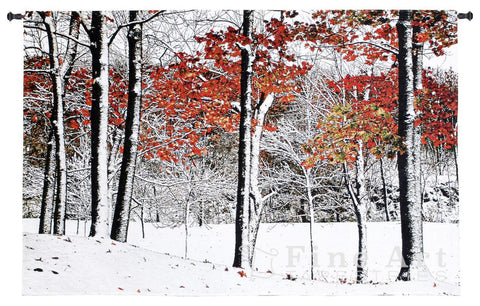 Snowfall Wall Tapestry by Burney Lieberman© -