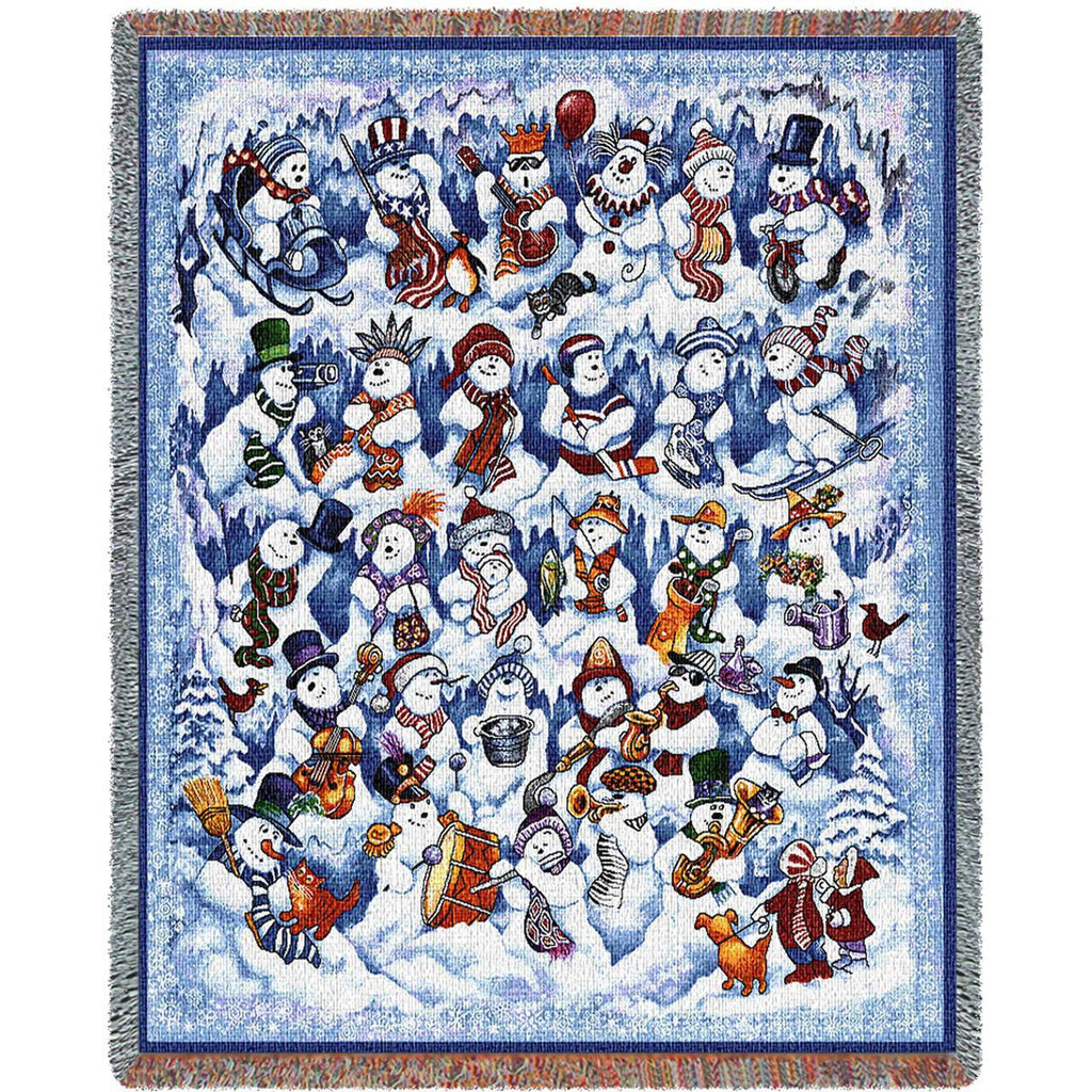 Snow Folks Woven Throw Blanket -