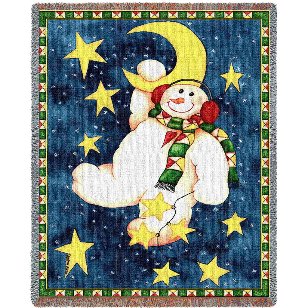 Hanging On The Moon Woven Throw Blanket -