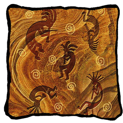 Southwest Kokopelli the Ancient Ones Tapestry Pillow Cover
