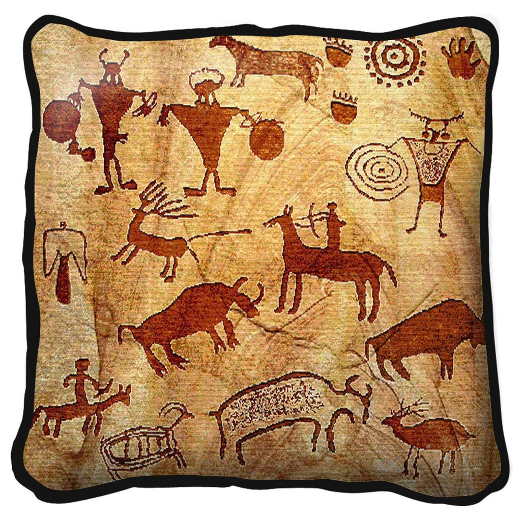 Southwest Rock Art of the Ancients Tapestry Pillow