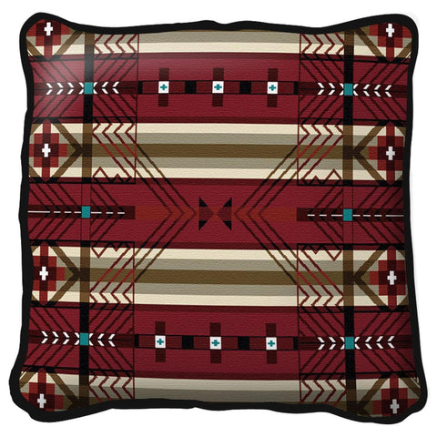 Southwest Antelope Ridge Flag Tapestry Pillow