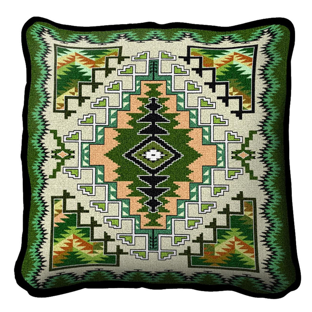 Southwest Painted Hills Sage Tapestry Pillow Cover