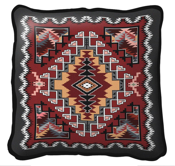 Southwest Painted Hills Sunset Woven Cotton Throw Blanket