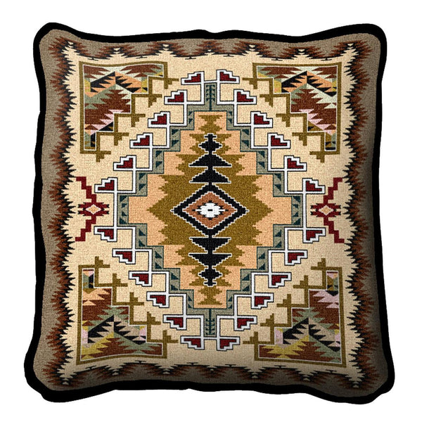 Southwest Painted Hills Sand Woven Cotton Throw Blanket