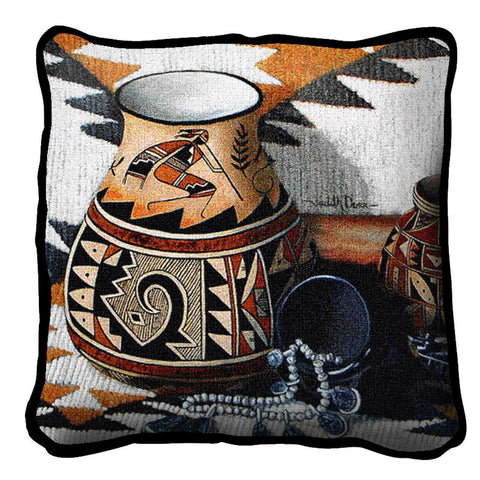 Southwest Kokopelli Tapestry Pillow