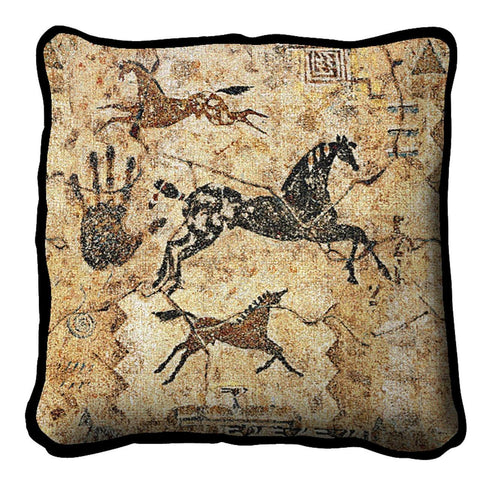 Southwest Tlalocs Tribe Tapestry Pillow Cover